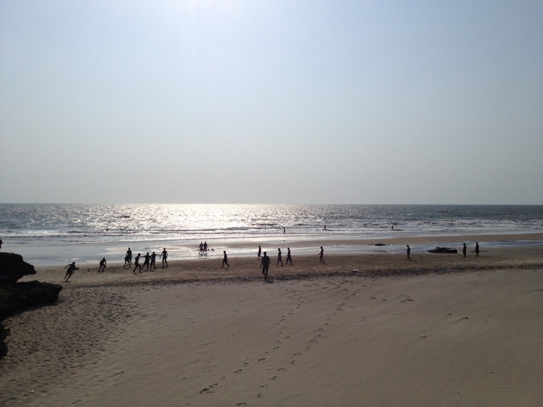 The golden beaches of Goa.