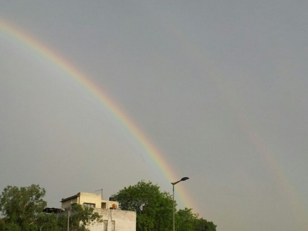 Double Rainbow. Can you see it?