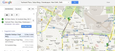Google map to Momo Heaven: Yashwant Place
